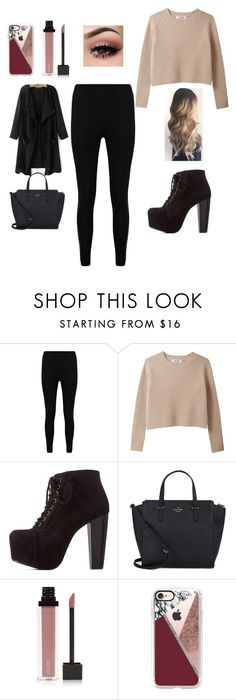"""Untitled #519"" by maybabymarie3 ❤ liked on Polyvore featuring Boohoo, Charlotte Russe, Kate Spade, Jouer and Casetify"