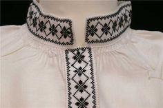 Nordfjord svartsøm Hardanger Embroidery, Head Pieces, Traditional Clothes, Aprons, Old And New, Norway, Costumes, Model, How To Make