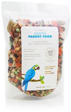 Dr. Harvey's Exotic Blend Natural Food for Parrots, 2-Pound Bag - http://www.petsupplyliquidators.com/dr-harveys-exotic-blend-natural-food-for-parrots-2-pound-bag/