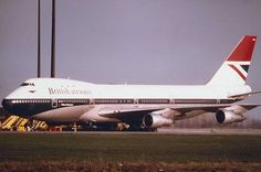 "A Blast from the Past: Here's a really rare moment.... British Airways' Boeing 747-100, the ""William Shakespear"" in hybrid livery as the airline was transitioning from BOAC into British Airways. The photo was taken at Mirabel Airport north of Montreal in it's heyday probably around 1974."