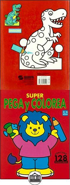 Super Pega Y Colorea -2 (Súper Pega Y Colorea) Equipo Susaeta ✿ Libros infantiles y juveniles - (De 0 a 3 años) ✿