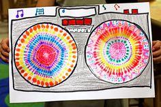Coffee Filter Mandalas from smART Class Coffee Filter Art, 2nd Grade Art, Grade 3, Sixth Grade, Fourth Grade, Circle Painting, Kid Painting, Smart Class, Ecole Art