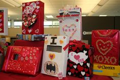Cereal Valentine Boxes. We made mail boxes out of cereal boxes in the pre-school I worked for. Kids LOVED