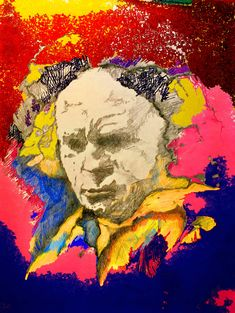 mr marian hergouth, Beethoven ps 2 Ps, Portrait, Colors, Artist, Painting, Paper, Canvas, Drawing S, Men Portrait
