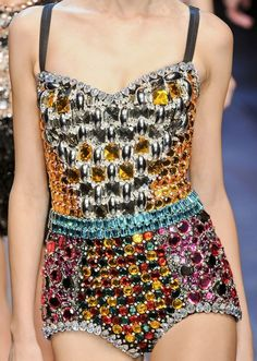 Dolce and Gabbana S/S 2012, detail on the runway