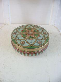 Vintage Metal Tin Box  Biscuit Candy Storage by vintagejane, $29.00