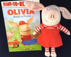 Olivia Plush And Book Builds A House Easy Reader