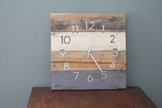 Modern Beach house clock. MODERN Numbers. Rustic by terrafirma79, $50.00