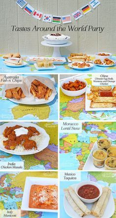Tastes Around the World Party for Back to School!  This is a simple party idea to introduce kids to countries and cultures around the world!