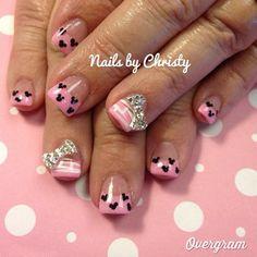 Mini mouse nails!!