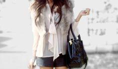 You guys! fur vest ..
