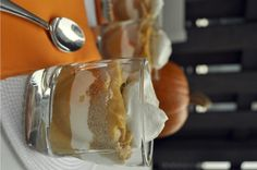 The Avid Appetite - The Avid Appetite - Individual Pumpkin Pie Trifles (use ginger snaps instead of graham crackers)