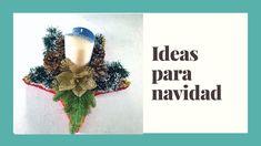 Centro de Mesa de Navidad Ideas Para, Christmas Table Centerpieces, Christmas Decor, Baby Shower Crafts, Christmas Tables, Flower Types