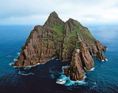 skellig michael, made up of 2 islands of the coast of Co. Kerry Ireland