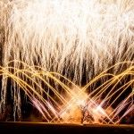 We love this shot of one of our amazing gold sequences for wedding fireworks displays