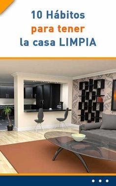 10 Hábitos para tener la casa LIMPIA #casa #limpiar #limpieza #consejos