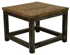 Hoektafel teak hout staal industrieel Industrial Chic, Dining Table, Rustic, Wood, Ebay, Furniture, Design, Home Decor, Homes