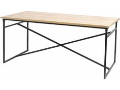 TheLibraCompany The Libra Company Libra Furniture Tables Manhattan Cross Frame Dining Table With Solid Mango Wooden Top Factory