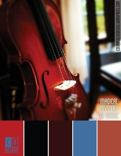 Magical Mystery of Music | Color Blocks Design - perfect for a formal  office or library