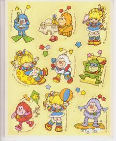 Vintage Rainbow Brite Sticker Sheet Sprites Lucky Twink Excellent 1983