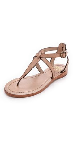 Summer Lovin' - Frye Rachel T-Strap Sandals T Strap Sandals, Shoes Sandals, Nude Sandals, Sandals Outfit, Flat Sandals, Crazy Shoes, New Shoes, Cute Shoes, Me Too Shoes