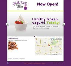 Yolicious Frozen Yogurt #frozenyogurt #web #website #webdesign