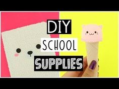 DIY SCHOOL SUPPLIES For Back To School 2017! - NIM C - YouTube