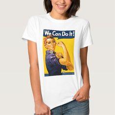 Rosie the Riveter We Can Do It Vintage TT Shirt, Hoodie