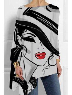 ninacloak.com Tie Dye Shorts, Printed Shirts, Spring Fashion, My Style, Long Sleeve, Bat Sleeve, Womens Fashion, Sleeves, Prints