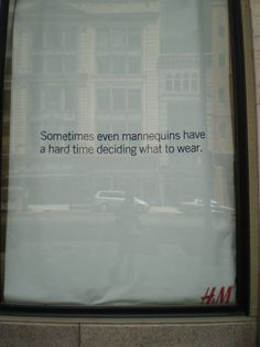 "Hennes & Mauritz H&M, ""GOSH"",(used to express mild surprise,delight or wonder), pinned by Ton van der Veer"