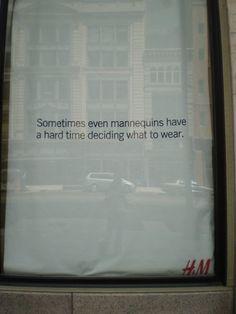 "Hennes & Mauritz H&M, ""GOSH"",(used to express mild surprise,delight or wonder), pinned by Ton van der Veer"