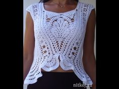 Манишка (накидка) крючком. Часть 3. Crochet Poncho, Cape. - YouTube