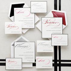 Always Forever Love Wedding Invitation | #exclusivelyweddings | #weddinginvitations