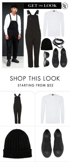 """""""@ Work"""" by dappervigilante ❤ liked on Polyvore featuring Topshop, Armani Jeans, Dolce&Gabbana, Converse, ZeroUV, Dansk, men's fashion and menswear"""