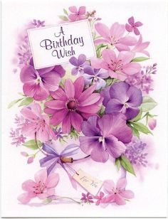 A Birthday Wish birthday birthday quotes birthday wishes happy birthday images Birthday Wishes Cards, Vintage Birthday Cards, Happy Birthday Messages, Happy Birthday Quotes, Happy Birthday Greetings, Happy Birthday Flower, Happy Birthday Pictures, Birthday Fun, Birthday Clips