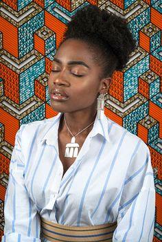 The Modern Tribe Collection - Hian Jewellery - Silber Schmuck, abstrakt, Kette, african print