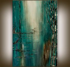 Original Acrylic Abstract painting Abstract by artgallerys on Etsy, $294.12  -  etsy.   lj