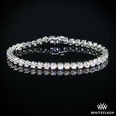 'Three-Prong' Diamond Tennis Bracelet.