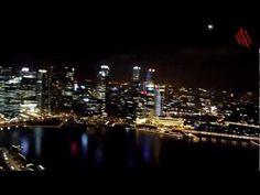 La fabulosa vista de Singapur desde el Marina Bay Sands