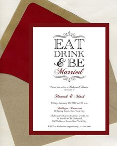 wedding rehearsal dinner decorations | Rehearsal Dinner Invitation