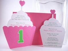 cupcake invitations | Copyright 2008 - 2009 Soirée by Design, All Rights Reserved.