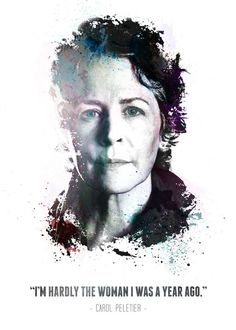 """The Walking Dead Character Quotes Carol Peletier #Displate artwork by artist """"Swav Cembrzynski"""". Part of a 21-piece set featuring artwork based on characters from the popular The Walking Dead TV series. £40 / $54 per poster (Regular size) #TheWalkingDead #TWD #Walker #Walkers #Zombie #Zombies #AbrahamFord #BethGreene #CarlGrimes #CarolPeletier #DarylDixon #EugenePorter #GlennRhee #Lucille #MaggieGreene #Michonne #Negan #RickGrimes"""