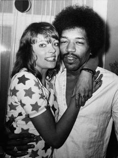Jimi hendrix and his dainish gf Kristen Nefer