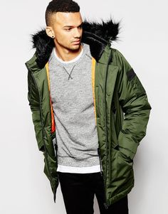 D-Struct Coulton Faux Fur Trimmed Parka Jacket
