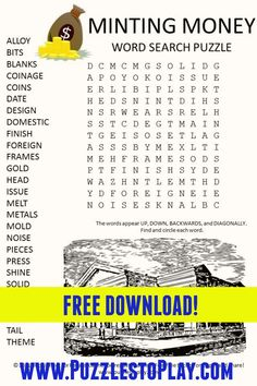 Printable Puzzles, Free Printable Worksheets, Printable Coloring, Free Word Search Puzzles, Kids Word Search, Puzzle Games, Puzzle Books, Music Worksheets, Worksheets For Kids