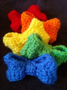 Fiber Flux...Adventures in Stitching: It's a Color Explosion! 40 Free Patterns Full of Happy Color...Boutique Bow from Stitch11