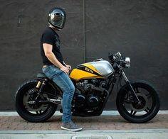 Honda by Ellis Brothers Garage Cb750 Cafe Racer, Gs500 Cafe Racer, Cafe Racer Build, Cafe Racer Motorcycle, Scrambler, Motorcycle Style, Honda Cb750, Estilo Cafe Racer, Cafe Racer Style