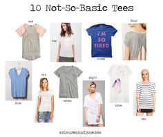 10 Not-So-Basic Tees - xo, lauren and jane