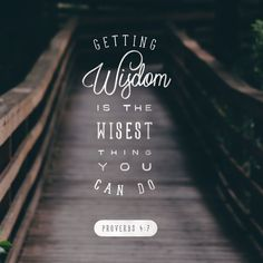 Getting wisdom is the wisest thing you can do!