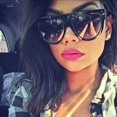 5d481790b2 Designer Inspired Flat Top Shadow Sunglasses Oversized Thick Frame Retro  Vintage  Fashion  Aviator
